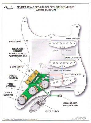 jst connectors on pickguard and in guitar fender