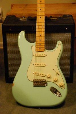Mint Green Pickguard On Seafoam Green Body Fender