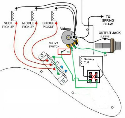 dummy coil wiring dummy air coil plus phase switch | fender stratocaster ... chevy 454 coil wiring diagram
