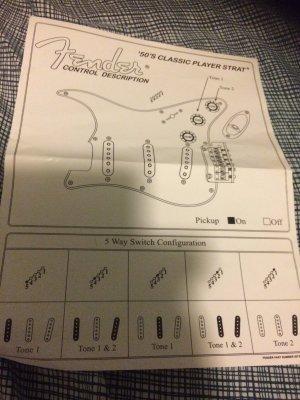 [DIAGRAM_1JK]  Classic Player 50's Strat Pickup Switching   Fender Stratocaster Guitar  Forum   Fender Classic Player 50s Stratocaster Wiring Diagram      Strat-Talk
