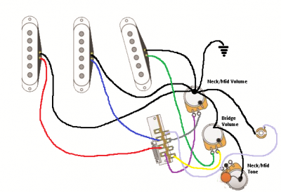 Two Volume One Tone wiring question | Fender Stratocaster Guitar ForumStrat-Talk