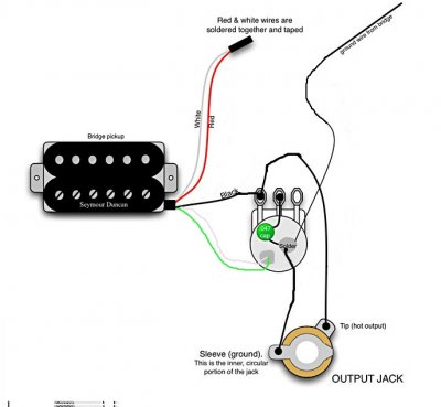 wiring humbucker with no volume pot fender stratocaster. Black Bedroom Furniture Sets. Home Design Ideas