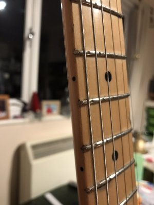 Thoughts On 7 25 Radius With 6105 Medium Jumbo Frets Fender Stratocaster Guitar Forum