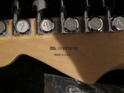 fender stratocaster serial number z610i
