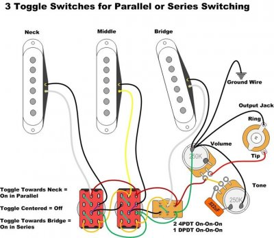 3 pickup wiring diagram strat wiring  how to wire 3 pickups parallel series   fender epiphone les paul 3 pickup wiring diagram strat wiring  how to wire 3 pickups