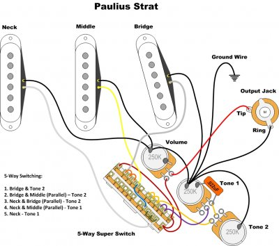 Wiring Diagram for N4 pickups and Super Switch   Fender Stratocaster Guitar  ForumStrat-Talk
