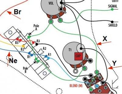 wiring problem bourns blender on a sss strat any ideas bourns pdb182 blend balance guitar pot jpg