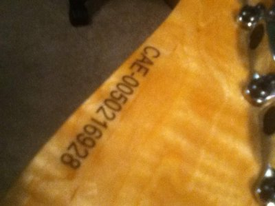 Squier serial numbers china