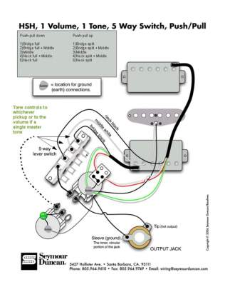 Reference HSH w/ coil split and tone wiring options